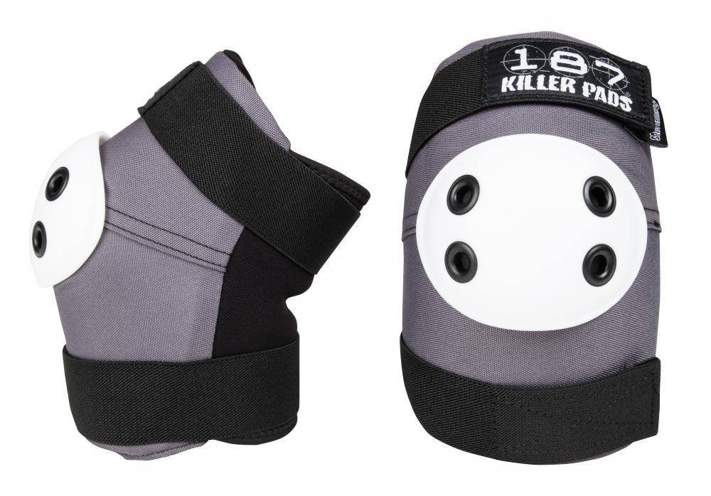 187 Killer Pads Elbow Pads (Grey/White, Medium) 61MfCatD8ZL