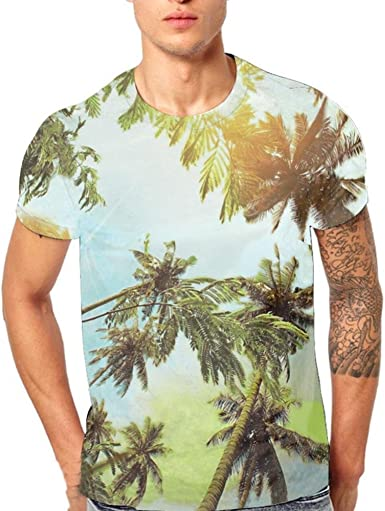 NREALY Tee Mens Printing Plus Size Camouflage Star Shirt Short Sleeve T-Shirt Blouse Tops