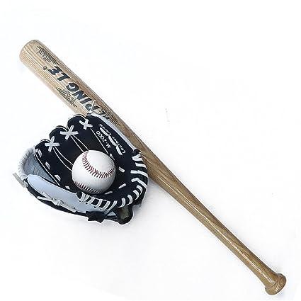 Juego de Béisbol, Madera, 1 + 1 Bate, Guante Izquierdo (10.5 ...