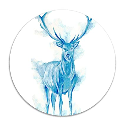 Terrific Amazon Com Mi Too Small Deer In Blue Watercolors Round Area Download Free Architecture Designs Sospemadebymaigaardcom