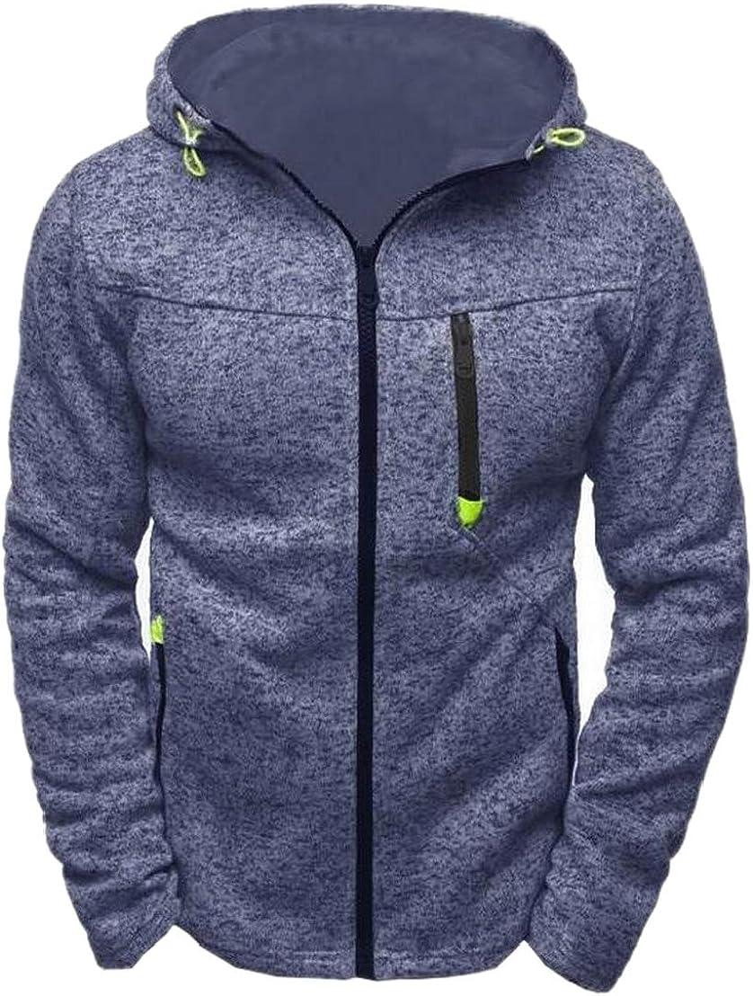 GenericMen Hooded Casual Active Zip Up Long Sleeve Hoodies Sweatshirt Jacket Coat