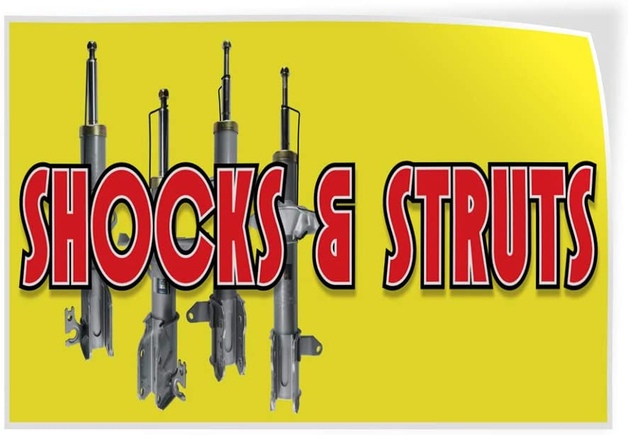Decal Sticker Multiple Sizes Shocks /& Struts Business Style R Automotive Shocks Struts Outdoor Store Sign Yellow 27inx18in Set of 5