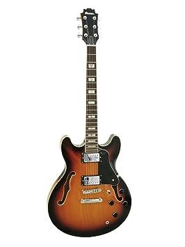 Guitarra de jazz RIVER EARL, semiacústica, sunburst - Guitarra de blues / Guitarra original - klangbeisser: Amazon.es: Instrumentos musicales