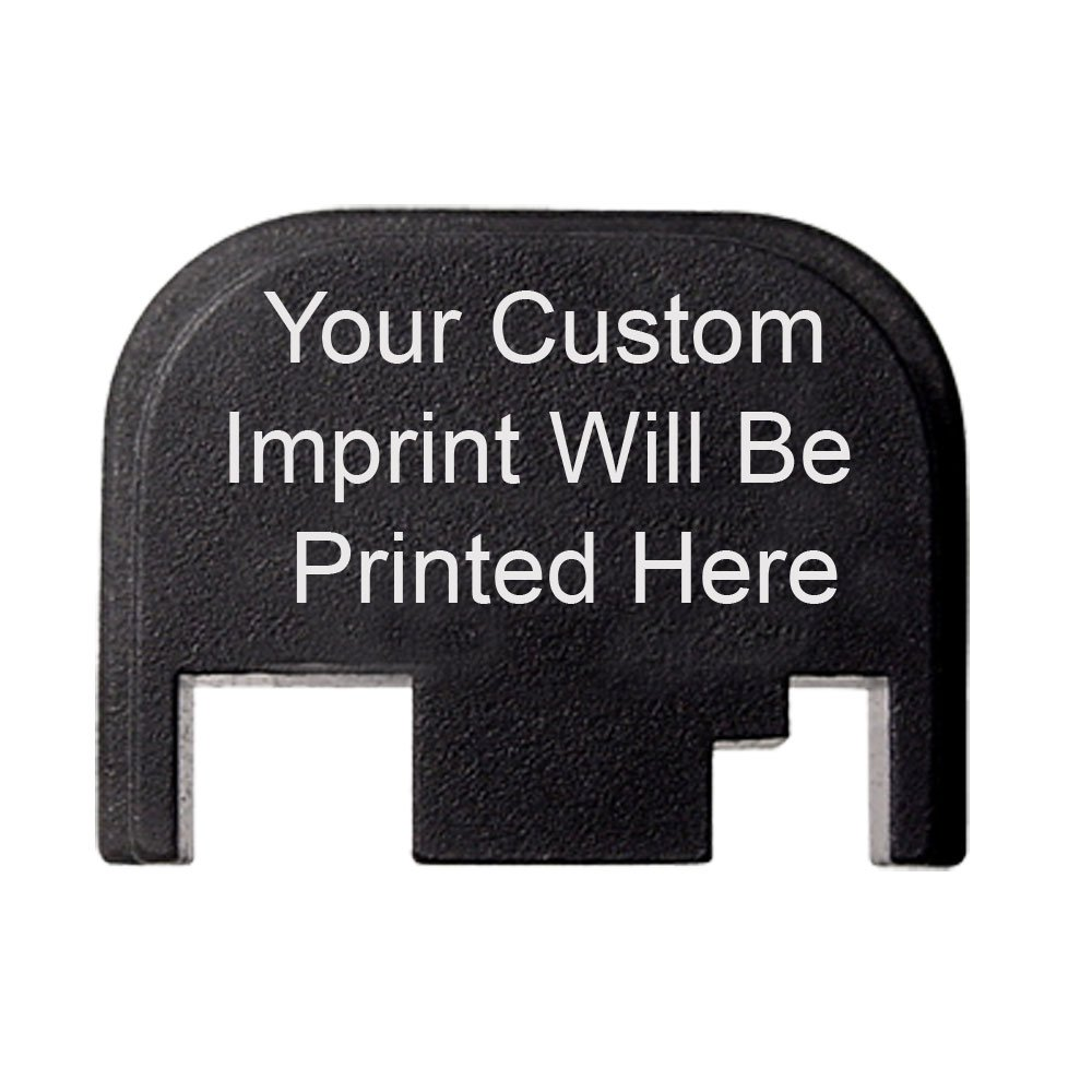 Fixxxer Personalized Custom Rear Cover Plate for Glock, fits most models Fits Gen 1,2,3,4. DOES NOT fit G43, G42 OR GEN 5