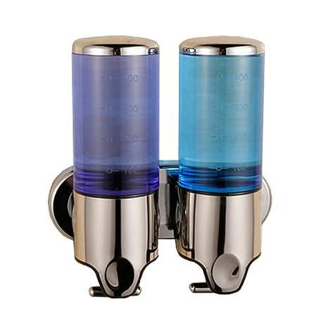 Angelbubbles Dispensador de jabón (para jabón, champú y gel) con 2 compartimentos Dosificador