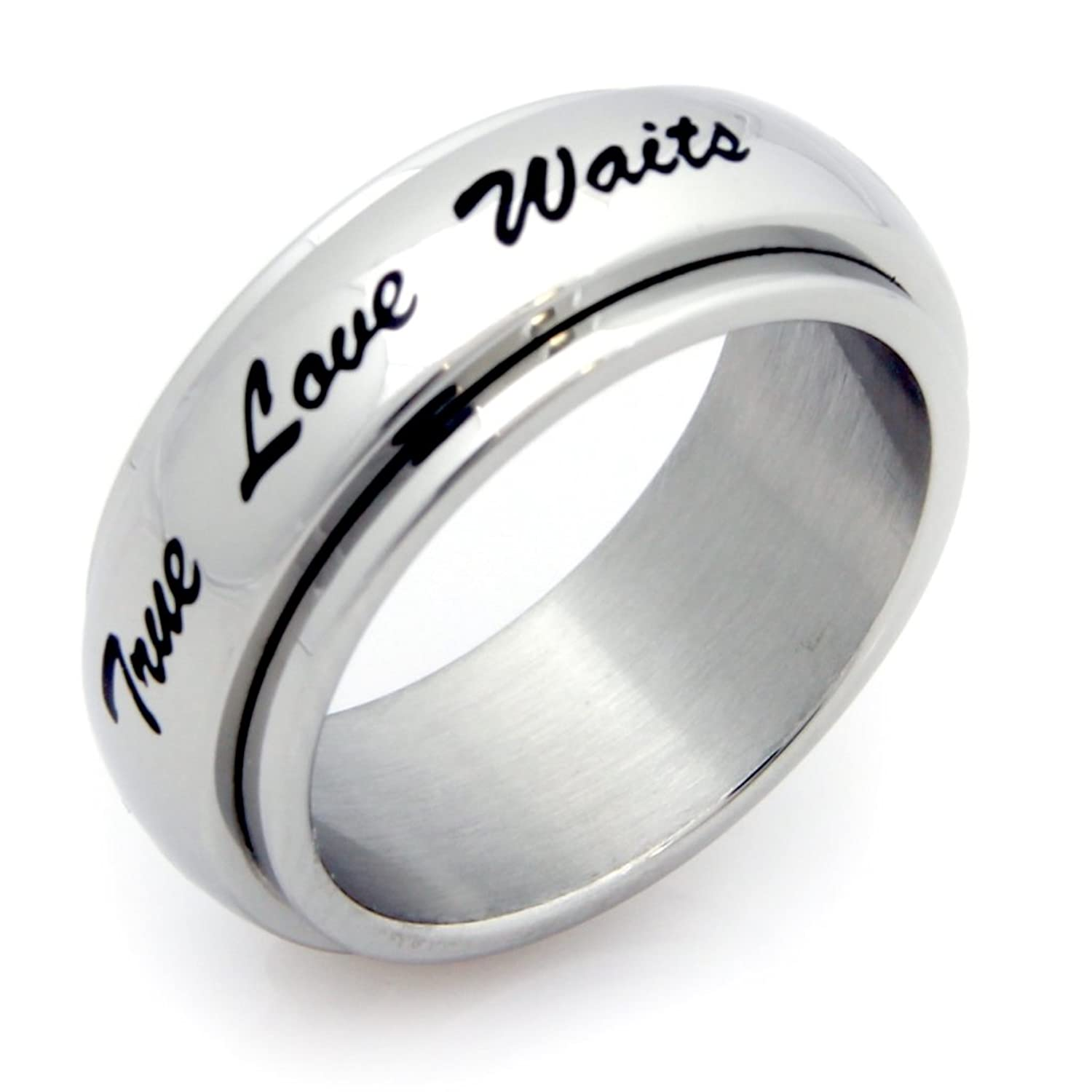 Amazon True Love Waits Spinner Ring Stainless Steel Ring