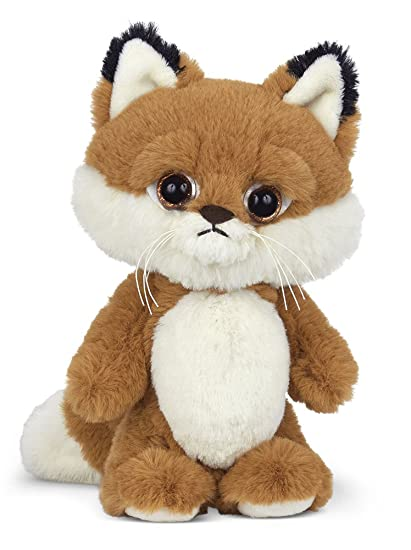 Amazon Com Bearington Big Head Red Stuffed Animal Fox 8 Toys Games