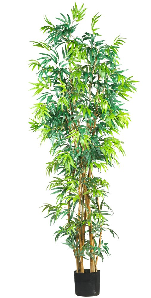 Nearly Natural 5189 Curved Bamboo Silk Tree, 7-Feet, Green by Nearly Natural