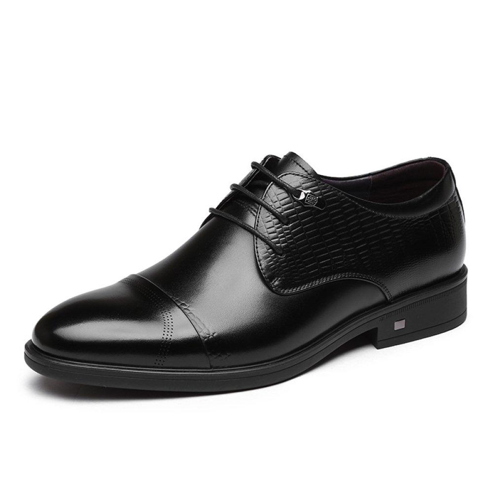 GTYMFH Herrenschuhe Winter Geschäft Kleid Schuhe Männer Spitzenschuhe Leder Niedrig Zu Helfen Spitzenschuhe Männer schwarz 63610d