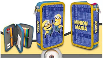 MINIONS- Plumier Doble (Kids Euroswan MN16108): Amazon.es: Juguetes y juegos