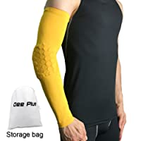 JIALONGZI 1PC Outdoor Basketball Arm Protection Pad Honeycomb Design Anti-Collision Anti-Skid Long-Sleeved Protective Sleeve