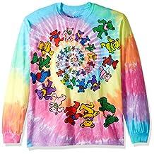 Liquid Blue mens Spiral Bears Tie Dye Long Sleeve T-shirt