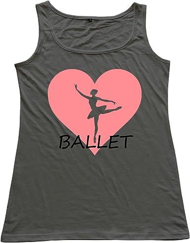 Niña de ballet camiseta de tirantes chaleco gran T camisas: Amazon ...