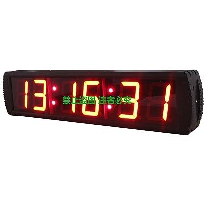 "Doble cara reloj de pared LED 4 ""alta carácter rojo color gigante grande LED"