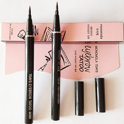 Samber Tintes para Cejas Permanentes de Maquillaje Natural Lápices Líwuido de Colores de Cejas para Maquillaje Permanentes (Marrón Claro)