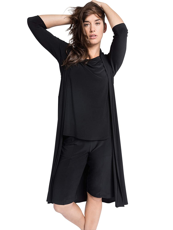 Sympli Womens Go to Vest Long-Black 21157L-BLACK