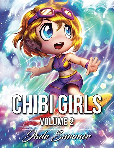 Chibi Girls 2: An Adult Coloring Book with Cute Anime Characters and Adorable Manga Scenes for -