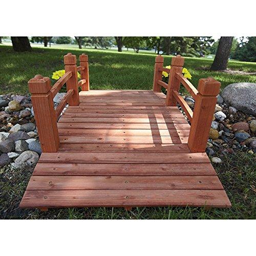 5-Ft. Long Wooden Decorative Garden Bridge by Consumer Sales Network (Image #6)