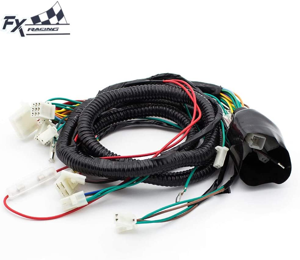 go kart gy6 wiring harness amazon com wire harness for gy6 125cc 150cc scooter dirt quad  amazon com wire harness for gy6 125cc