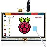 Pantalla Táctil de 5 Pulgadas, The perseids Pantalla LCD, 800 x 480 TFT Pantalla Monitor de Alta resolución, HDMI para Raspberry Pi 3 (B y B +, con 3.5 inch Touch Pen)