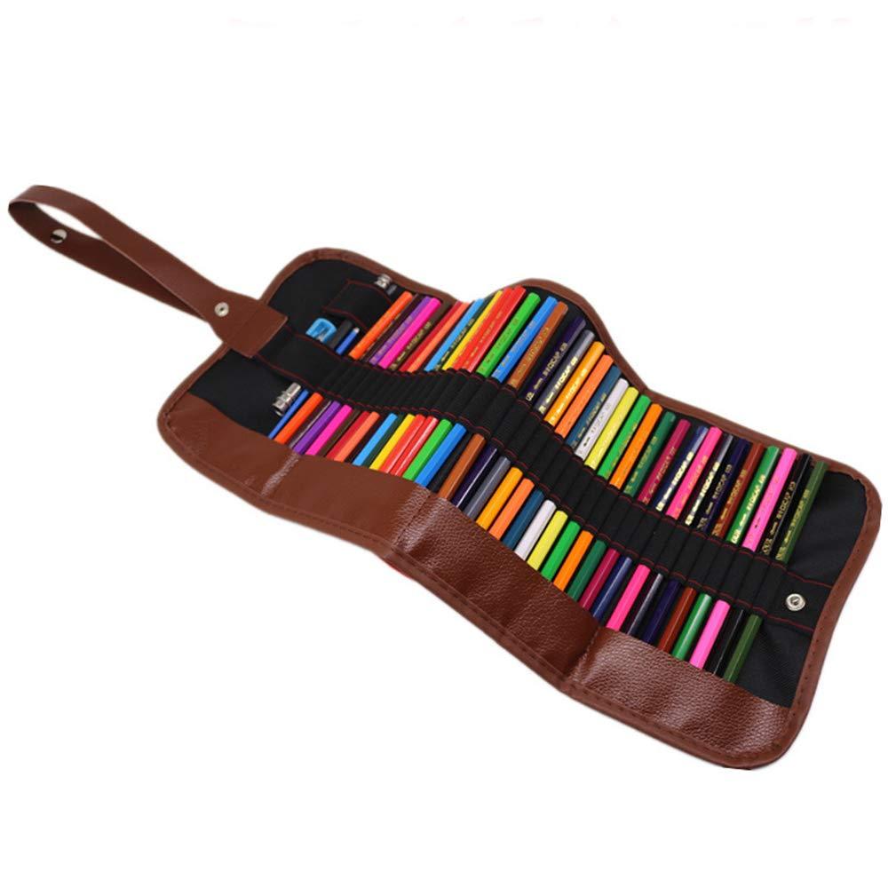 AJJDL Ölig Kinder & Erwachsene Buntstifte Brillanten Farben Bleistift Set Nicht giftig Qualitätsbauholz mit Rollbaren Canvas Tasche für B07QG1CQ1W | Zuverlässiger Ruf