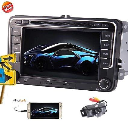 Cámara de reserva incluido para VW Jetta Passat 7 HD de pantalla táctil capacitiva estéreo Wince coche ...