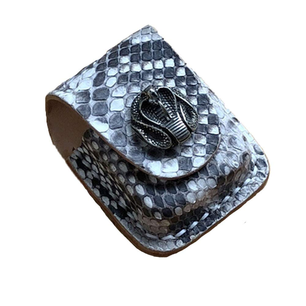 Osmyzcp Genuine Leather Heavy Duty Pouches Lighter Holder Case Hand Made Pouch-Snake King