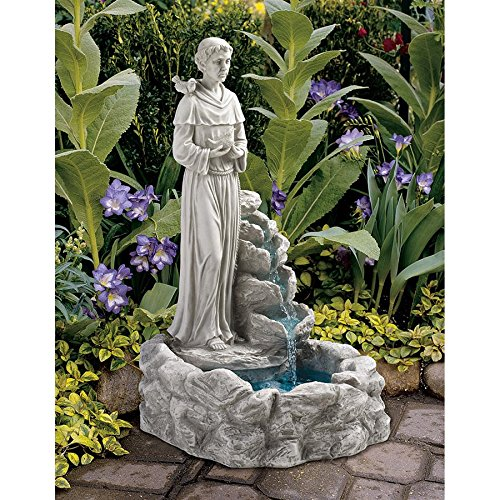 Design Toscano Resin Nature's Blessed Prayer St. Francis Fountain by Design Toscano