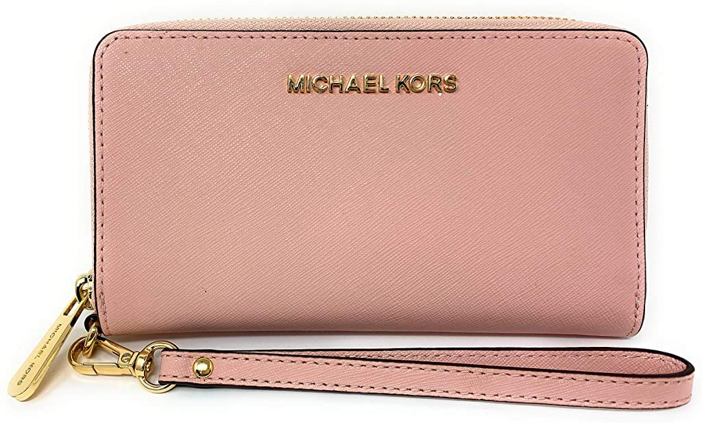 Michael Kors Women's Jet Set Travel Large Smartphone Wristlet (Blossom)