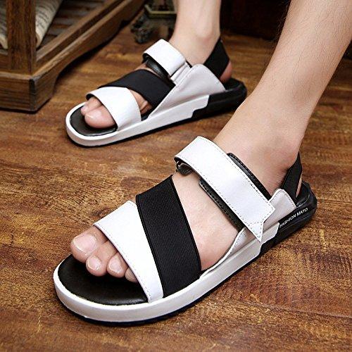 Il pattino dei sandali dei sandali degli uomini delle nuove molle Calza dei pattini delle maree di tendenza, bianco, UK = 7.5, EU = 41 1/3