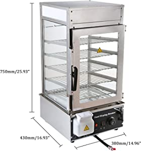 Electric Food Steamer 1.1kw Pao Bun Display Food Warmer Showcase 5 layers Steamer Stainless Steel