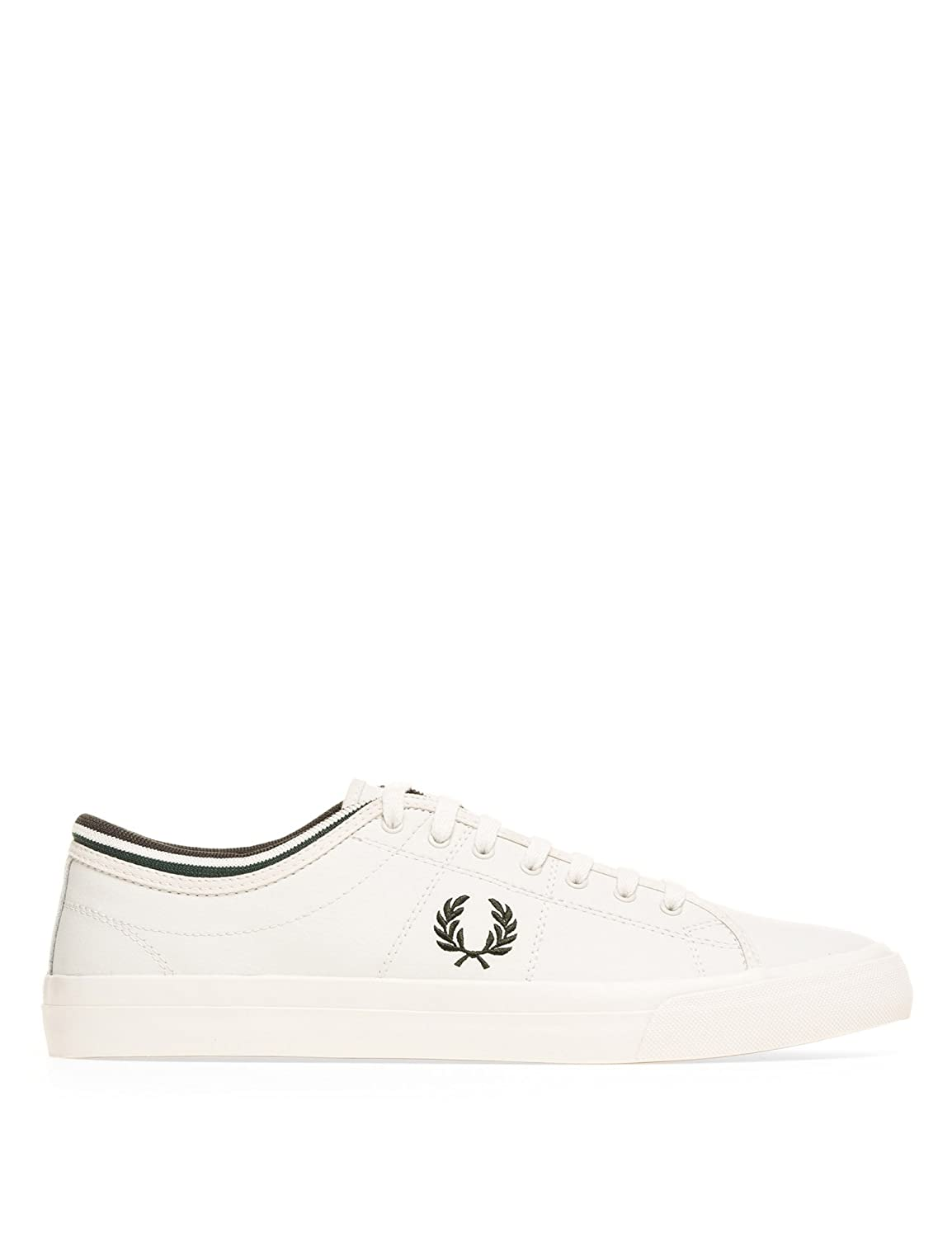 Fred Perry Men's Kendrick Leather Men's White Sneakers Leather With Textile White