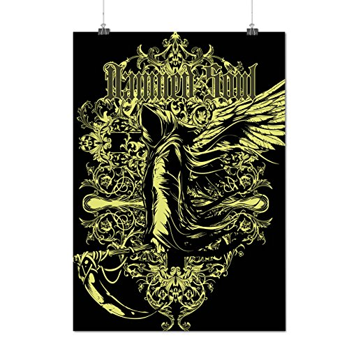 Damned Soul Death Axe Hell Angel Matte/Glossy Poster A4 (9x12 inches) | Wellcoda