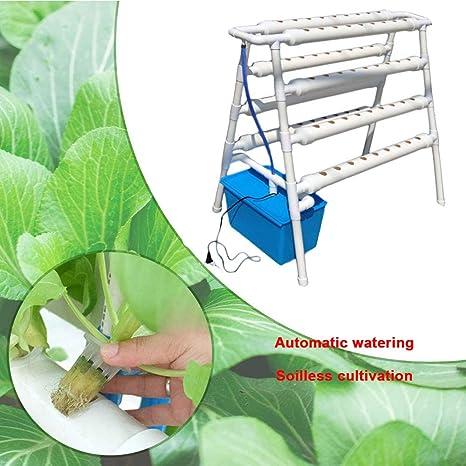 ZHENN 2 Capas 72 Sitios 8 Tubería Kit de Cultivo Hidropónico PVC Cultivo Jardín Casa Tubo Hidropónico Sin Suelo Kit Plantación Plantas Blanco,Blanco,98x60x103cm: Amazon.es: Deportes y aire libre