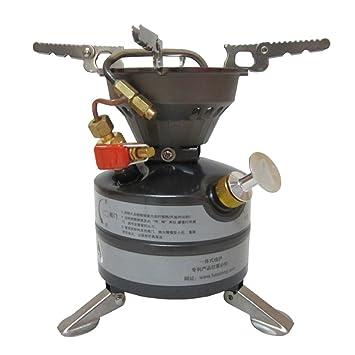TOPQSC Mini Hornillo de gasolina para acampada Estufa de gasolina portátil combustible líquido al aire libre estufas de queroseno estufa de gas diesel: ...