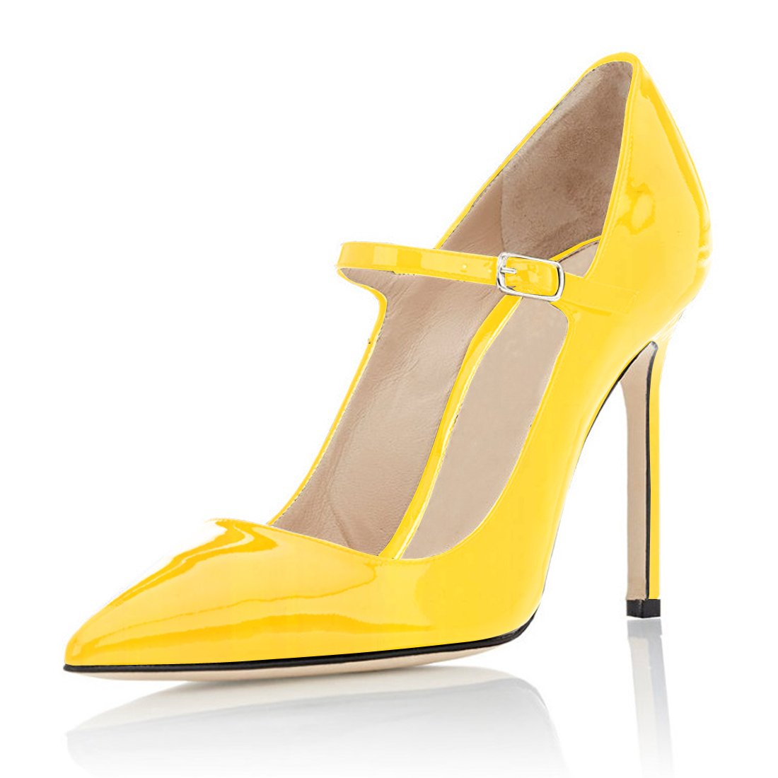 Soireelady - Scarpe Col Tacco - Sexy Stiletto Tacco Scarpe - Mary Jane Tacco Alto - con Cinturino Alla Caviglia