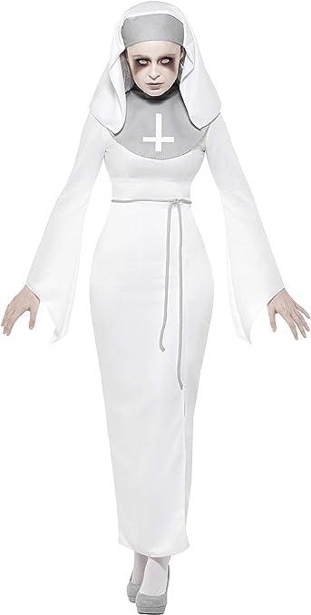 Smiffys 47570X1 - Disfraz de monja de asilo, para mujer, color ...