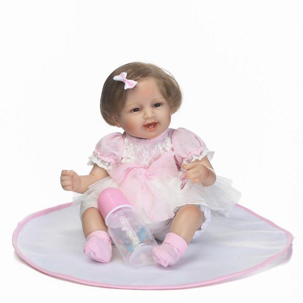 NPKDOLL Handgemachte Weiche Simulation Silikon Reborn Baby Lebensechte Puppe 18 Zoll 45 cm Jungen Mädchen Geschenk Puppe für Kinder Geburtstag und Weihnachten a156