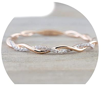 Amazon Com B Dressy Bracelets 2019 Round Rings For Women Thin Rose