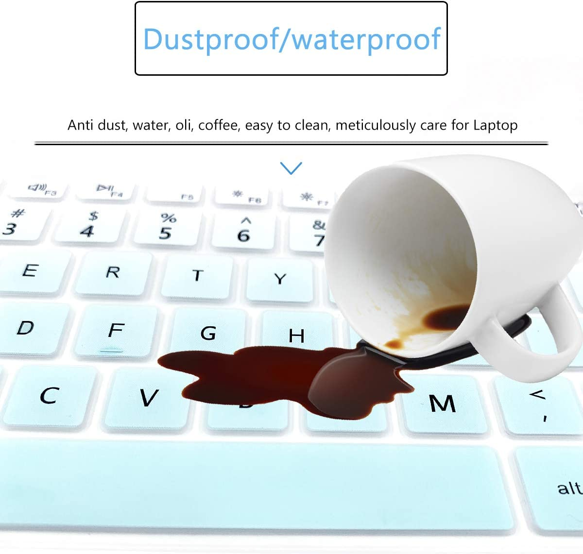 Keyboard Cover Fit for 2020 2019 15.6 Dell Inspiron 15 5000 5584,15.6 Dell Inspiron 15 7000 7590 7591 Laptop,Dell Vostro 15 7590 Laptop US Layout-Rainbow