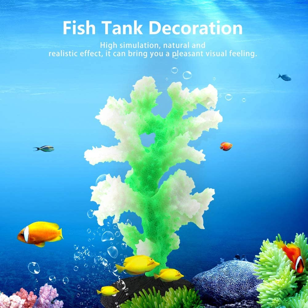 Artificial Silicone Luminous Coral Bionic Plants for Fish Tank Landscaping Supplies Yellow HEEPDD Aquarium Ornament