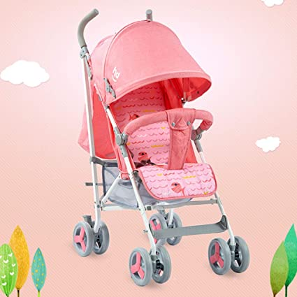 Full Awn puede sentarse y acostarse Baby Cart Lightweight plegable paraguas Child Baby Car