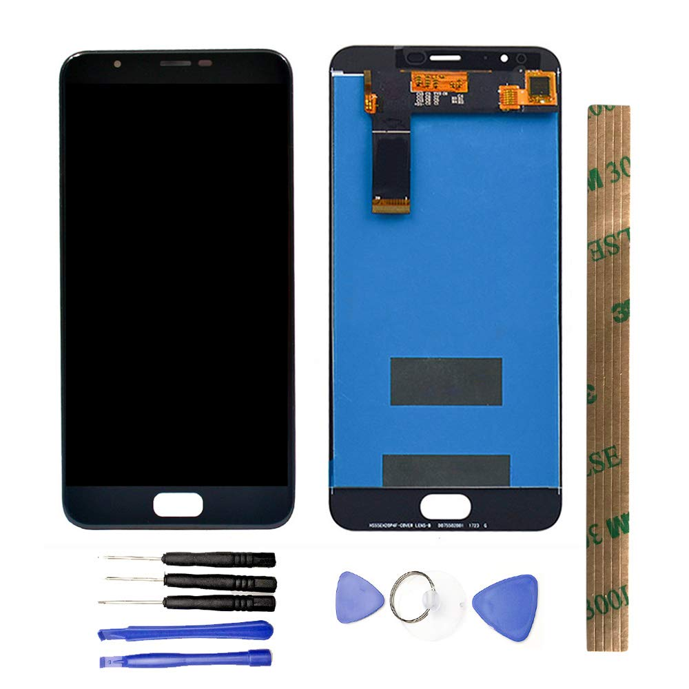 JayTong LCD Display & Replacement Touch Screen Digitizer Assembly with Free Tools for Zenfone 4 Max Plus ZC550TL X015D 5.5 inch Black by JayTong