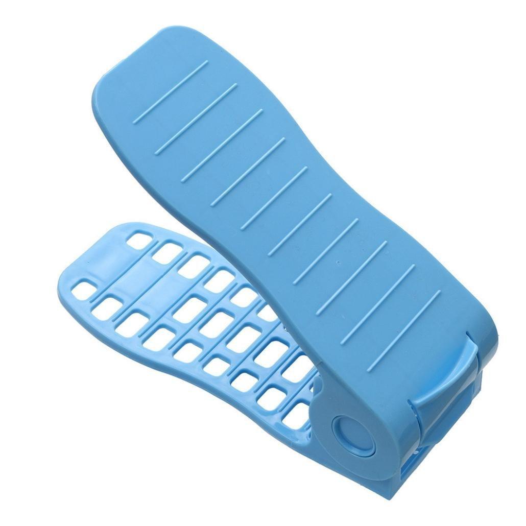 Gspirit Durevole Regolabile scarpiera salvaspazio plastica shoe organizer, salvaspazio scarpe Holder shoe rack, (1)