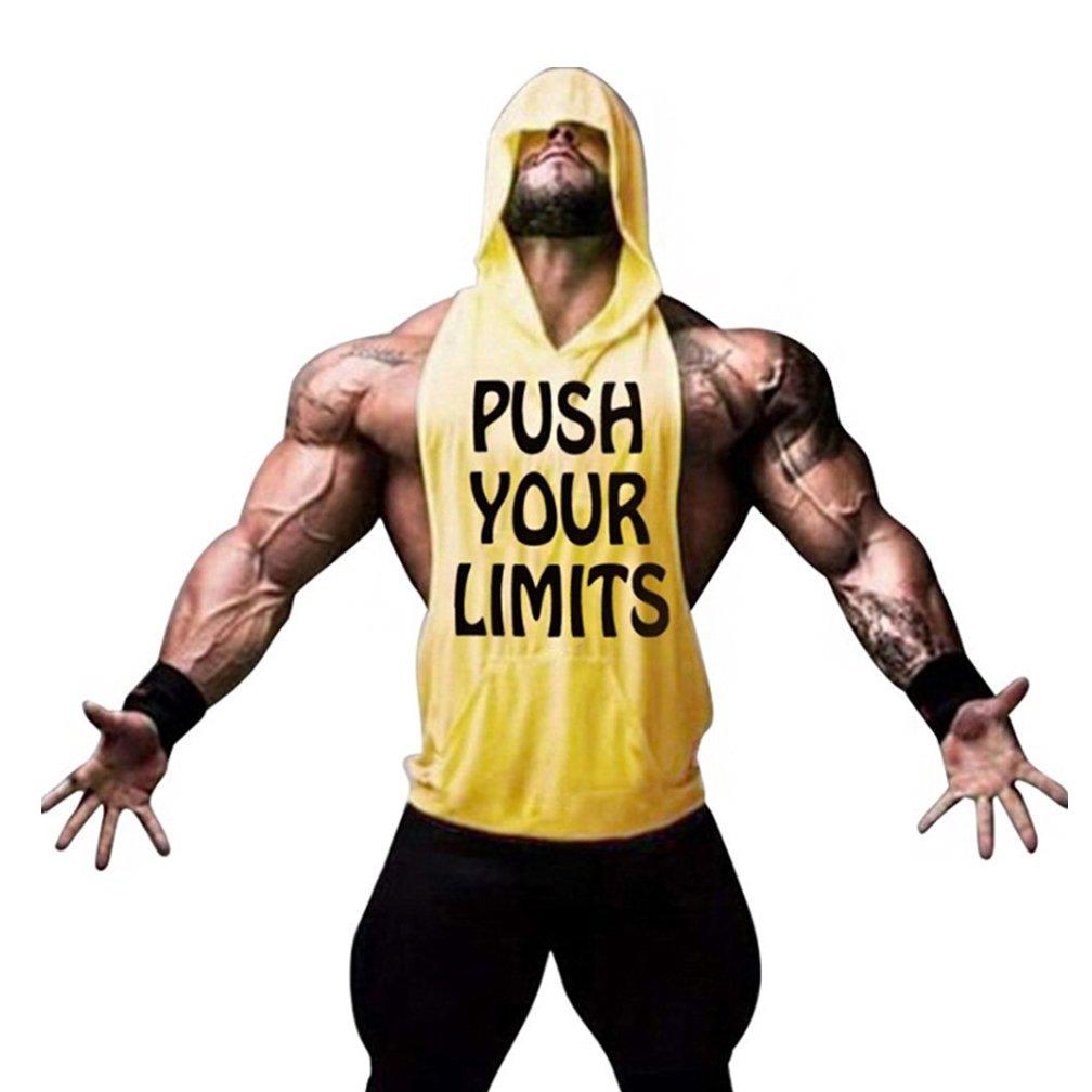 Befox Camisetas Sin Manga Tirantes de Algod/ón Deportivo Gimnasio Fitness Running Tops Camisetas T-Shirts Chaleco Suelto para Hombre Muestra su M/úsculo