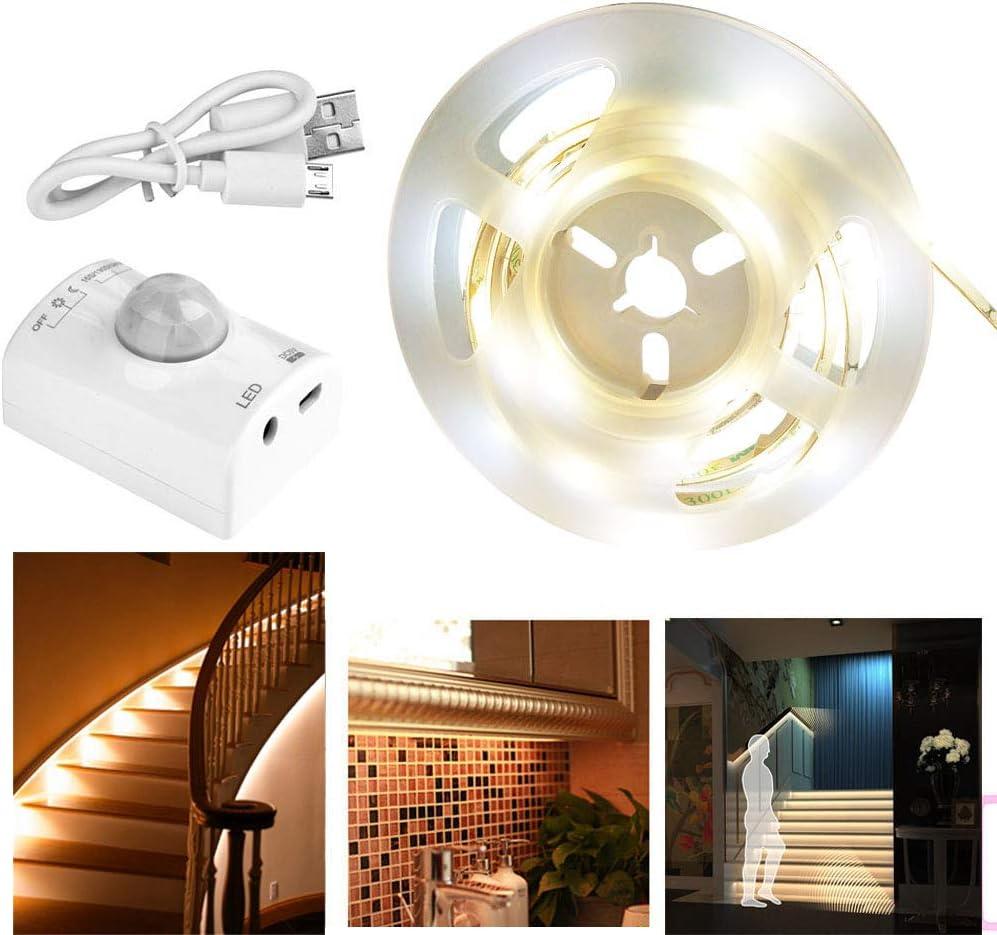 Flexible Led Strip Lights Battery Motion Sensor Cabinet Cupboard Kitchen Stair