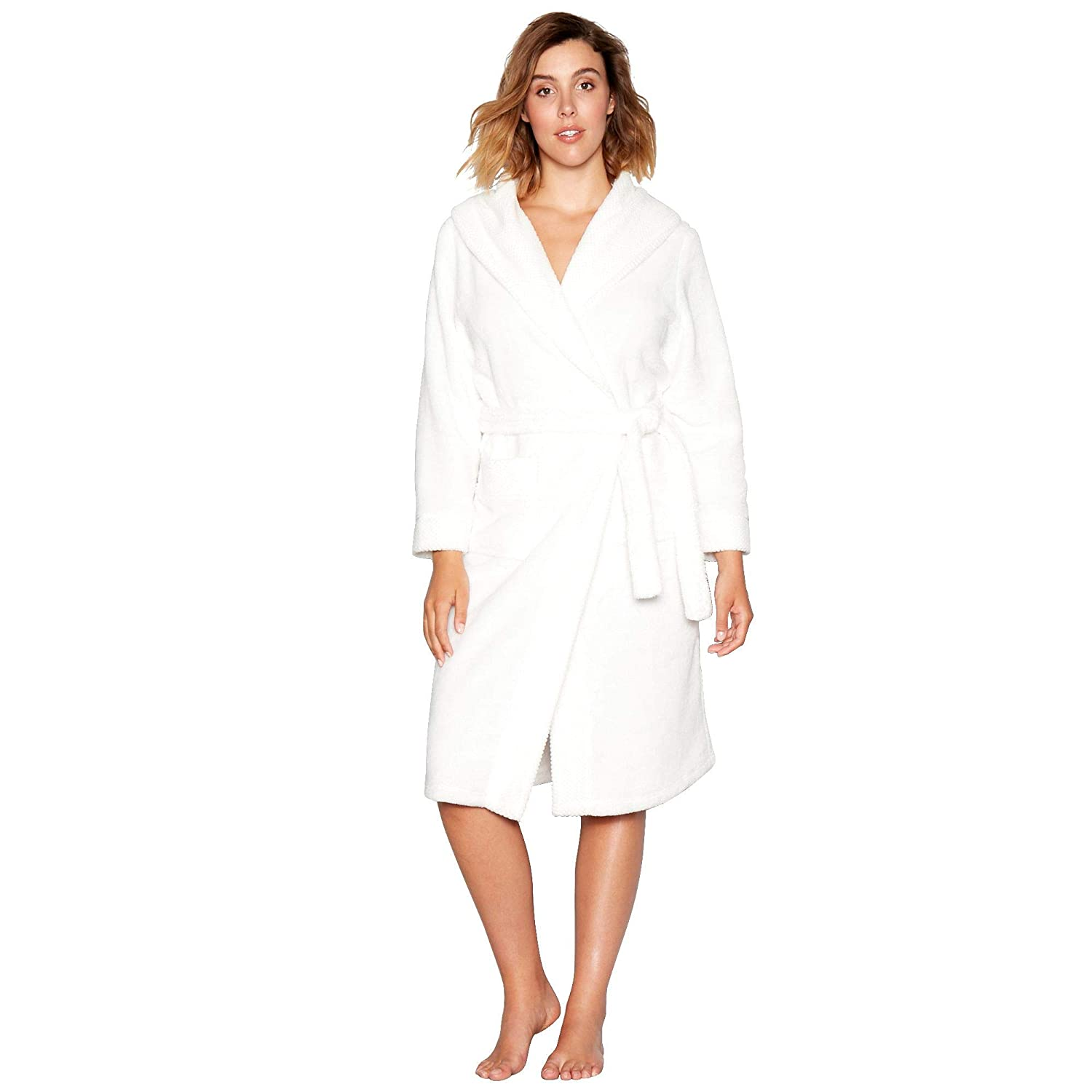 J by Jasper Conran Womens White Waffle Trim Dressing Gown  J by Jasper  Conran  Amazon.co.uk  Clothing 05a8937d9