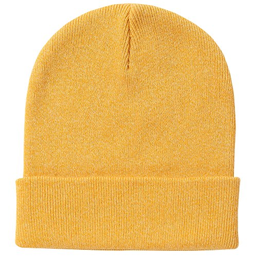 E.mirreh Unisex Newborn Infant Baby Cotton Knitted Warm Cotton hat 6colors Yellow M (Toddler Yellow Hat)