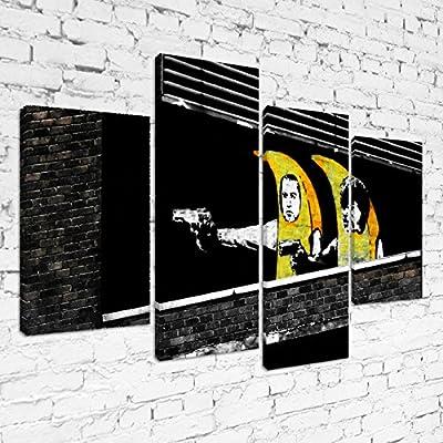 60 x 40 cm Banksy Pulp Fiction Banana Guns dise/ño de armas de pl/átano L/ámina enmarcada