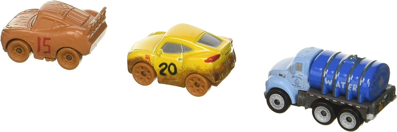 Disney/Pixar Cars Mini Racers Vehículos, 3 Pack – Muddy Cruz, Muddy Lightning Mcqueen, Señor Drippy Exclusiva: Amazon.es: Juguetes y juegos